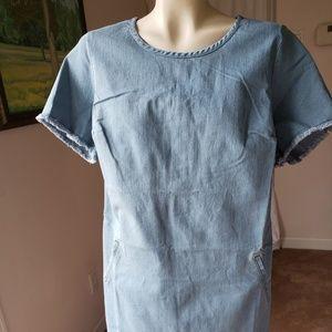 C Wonder Short Sleeve Denim Dress